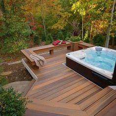 60+ stylish backyard hot tubs decoration ideas (3)