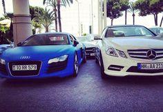 #car  #audi  #mercedes  #blue  #white