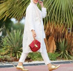 white lace cardigan hijab fashion- spring hijab- Modern Hijab Street styles http://www.justtrendygirls.com/modern-hijab-street-styles/