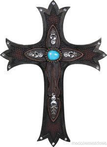 Turquoise Jewelled Wall Cross 16 Inspirational Art Decor Christian Religous | eBay