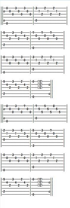 Easy Classical Guitar Sheet Music (Tabs), Etude in E minor Ukulele, Guitar Tabs Acoustic, Guitar Tabs And Chords, Guitar Strumming, Guitar Tabs Songs, Music Tabs, Easy Guitar Songs, Music Chords, Fingerstyle Guitar