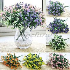 1 Bouquet Silk Artificial baby s breath Gypsophila Flower Wedding Home Decor