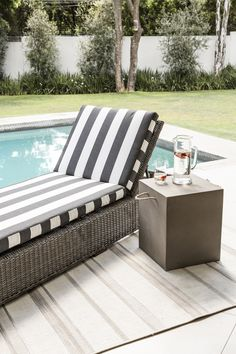 The Benedict Lounger Outdoor Couch, Outdoor Living, Outdoor Furniture, Outdoor Decor, Patio Table, Patio Chairs, Outdoor Seating Areas, Outdoor Spaces, Modern Bedroom Furniture
