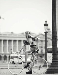 it's so much easier to bike in heels than walk in them. Ask this chick.