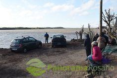 Alvarez entre la angustia y la esperanza de hallar a los jóvenes que naufragaron en el Paraná