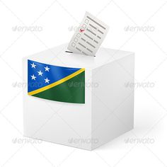 Ballot Box with Voting Paper Solomon Islands