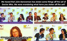 (gif set) John Barrowman Steals Things