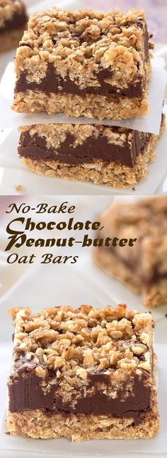 No-bake, egg-free, gluten-free Chocolate Peanut-butter Oat Bars These delicious bars are super easy-to-make.