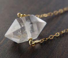 Herkimer Gold Necklace