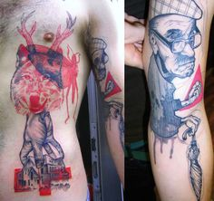 """""""tattoo designs of Peter Aurisch have a distinctly designer look to them"""""""