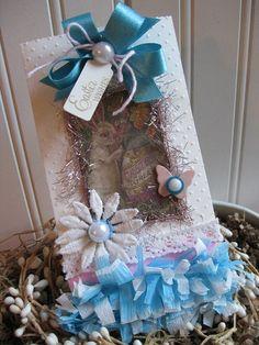 victorian easter bag-EASTER BUNNY easter wishes candy bag-decoration gift bag
