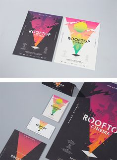 Rooftop Cinema Branding by SouthSouthWest #Trendspirationcolour