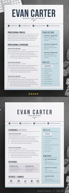 Modern & Professional Resume / CV ---CLICK IMAGE FOR MORE--- resume how to write a resume resume tips resume examples for student
