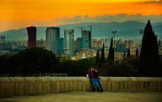 #Skyscrapers in #Barcelona, seen from #MontJuic © Moyan Brenn