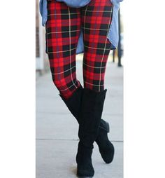 PLUS Size Red Black Plaid Fall Leggings Butter Soft - lilyandlush. Winter Leggings, Red And Black Plaid, Red Plaid, Leggings Depot, Tc Leggings, Black Leggings, Plus Size Winter, Fall Plaid, Legging Outfits