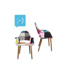 Hi there. ⠀ ⠀ #chairs #colorful #patchwork #officedecor #homedecor #officestyle #homestyle #interiordesign