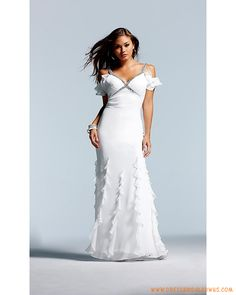 Spaghetti Strapless Beaded A-line Chiffon Ruffles Celebrity Dress for Party 2013
