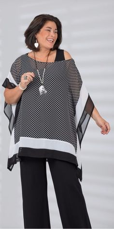 comfortable clothing - anti-aging fashion - Aneta Sulka - - roupa confortável – moda anti-idade Comfortable clothes without losing the charm. Curvy Fashion, Plus Size Fashion, Womens Fashion, Fashion Black, Fashion Fashion, Vintage Fashion, Xl Mode, Mode Outfits, Fashion Over 50