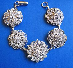 Wedding Bracelet,Bridal Jewelry,Vintage Style, Wedding Jewelry on Luulla