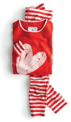 Heart striped pajamas, do these come in my size and could I get away with wearing them to work??