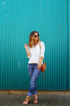 Incorporating A Touch of Turquoise Into Your Look by @Alexandra Grant on @Beca Alexander http://shar.es/P1KRD