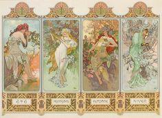 ❤ - Alphonse Mucha | The Seasons Series - 1896.