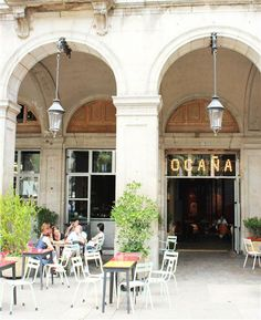 Ocaña. Plaza Reial. Barcelona. cafe, bar, restaurant