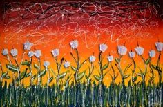 Fields of white, Colourful painting, colours, Colourful Art