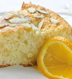 A rich, moist coffee cake topped with a combo of cream cheese and orange marmalade.