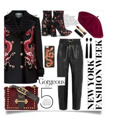 """New York"" by naomis2810 ❤ liked on Polyvore featuring Gucci, Zero Gravity, Petar Petrov, Prada and Mignonne Gavigan"