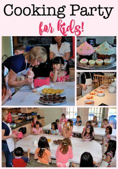 One of our favorite parties to throw- a cooking party for kids! Kids start by decorating chef's aprons, and the prepare mini pizzas and also decorate cupcakes for dessert! Ideas for invites, thank you cards, and party favors are all in this post! Indoor Birthday, Birthday Party At Home, Birthday Party Games For Kids, Boy Party Favors, Birthday Activities, Birthday Themes For Boys, Kids Party Themes, Birthday Party Decorations, Party Ideas