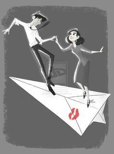 A Disney short film 'Paperman'. So sweet Less than ten minutes and still a better love story than Twilight . Arte Disney, Disney Magic, Disney Art, Disney And Dreamworks, Disney Pixar, Paperman Disney, Disney Shorts, Pixar Shorts, Best Love Stories