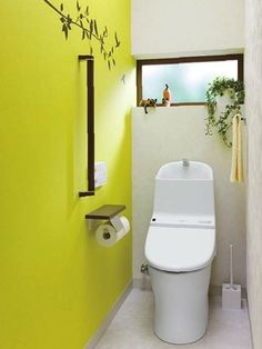 トイレインテリア事例 Toilet Room, Toilet Paper, Downstairs Toilet, Washroom, Wall Colors, Powder Room, Small Spaces, House Design, Flooring