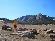 Ian Torrence running in front of the Flatirons...inspired stubbornness!
