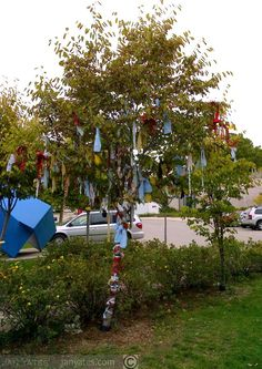 rags for those loved-outdoor installation at Grimsby Public Art Gallery