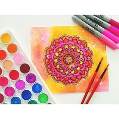 Hey guys! This is a pink and orange mandala just letting you know I won't be as…
