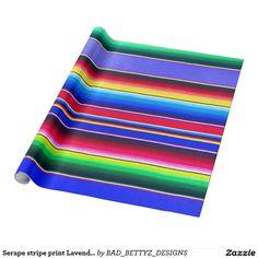 Serape stripe print Lavender Wrapping Paper