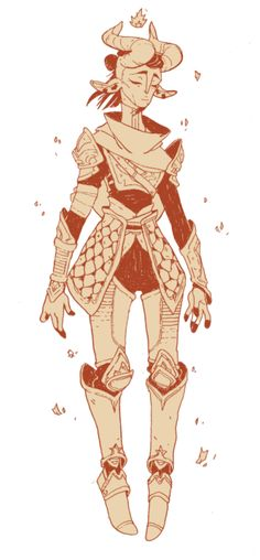 "carlysart:  "" line work of my dnd character!  also this looks mega blurry click to see nice lines~  """