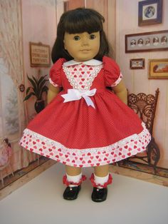 Valentine American Girl dress