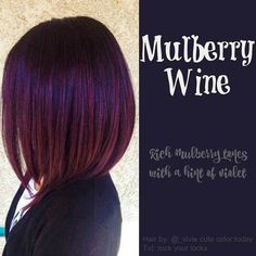 Mulberry wine - rich mulberry with hint of violet