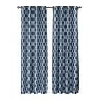 Window Elements Wesley Faux Silk Extra Wide 96 in. L Grommet Curtain Panel Pair, Navy (Blue) (Set of 2)