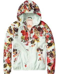 Nylon jacket with floral allover print | Jackets | Girls Clothing at Scotch & Soda
