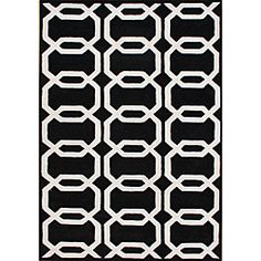 @Overstock - The Floridly hand-tufted area rug is constructed from blended New Zealand wool for a soft feel. Contemporary designs, a lush 0.7-inch pile height and a convincing color palette make this rug an ideal accent piece.http://www.overstock.com/Home-Garden/Hand-tufted-Floridly-Black-Wool-Rug-5-x-8/6737768/product.html?CID=214117 $181.99