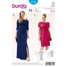 Misses and Plus Size Shirt Dress Burda Sewing Pattern 6712