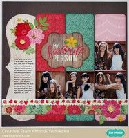 Echo Park Jack & Jill Girl Layout by Mendi Yoshikawa