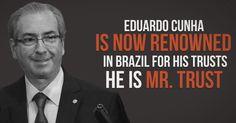 Eduardo Cunha ilustra vídeo de campanha mundial contra corrupção