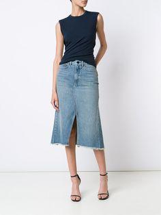 Alexander Wang Saia jeans evasê