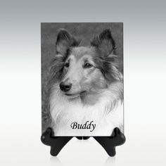Engraved Granite Plaque with Display Stand - Vertical Wood Display Stand, Going Home, Granite, Animals, Animales, Animaux, Animal, Animais