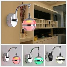 3W LED Creative Round  Wall Lights; Variety of Colors (AC85 ~ 265V) – USD $ 39.99