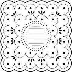 TCW149 Dotted Scallop 12 x 12 Template